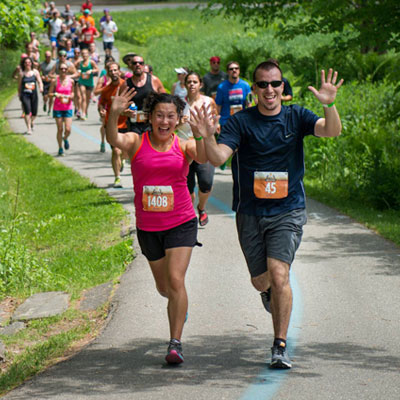 Running at the Stowe Craft Brew Race